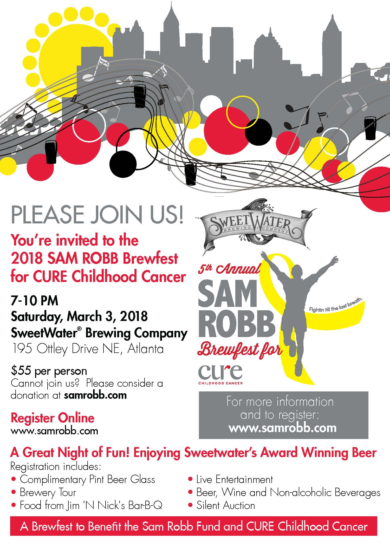 2018 Sam Robb Brewfest Invite